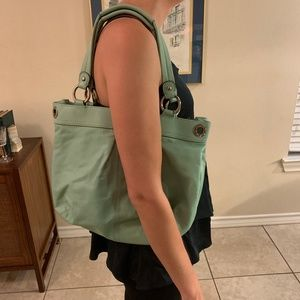 Coach - Minty turquoise handbag